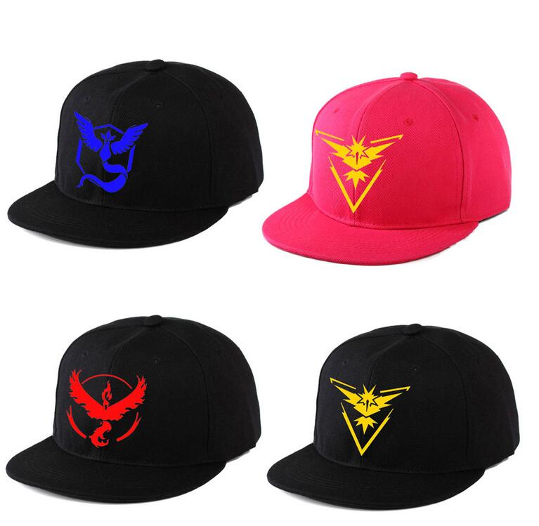 Wholesale popular game pokemon go cap canvas pokemon go hat