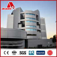 popular building material aluminum composite panel for wall facing curtain wall