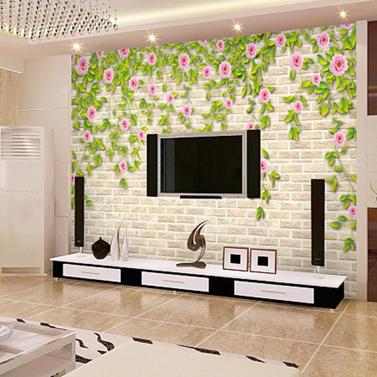 Textured Brick Wallpaper Uk Part - 46: 3d Nature Textured Stone Brick Wallpaper Uk For Interior Decoration
