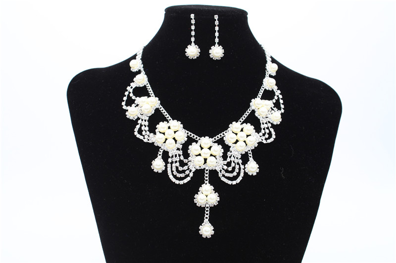 Wedding Party Bling Beaded Necklace With Ear Ring models