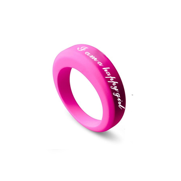 Custom Design Silicone Wedding Band RingSilicone Ring With Name