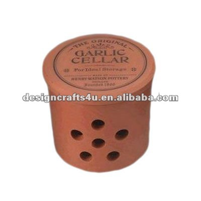 clay terracotta garlic keepers container