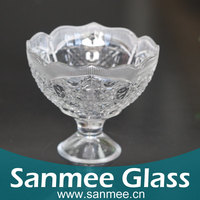Supplies Wholesale Cheap Glassware Cups 330ml Transparent Cup Ice Cream,Design Ice Cream Cup