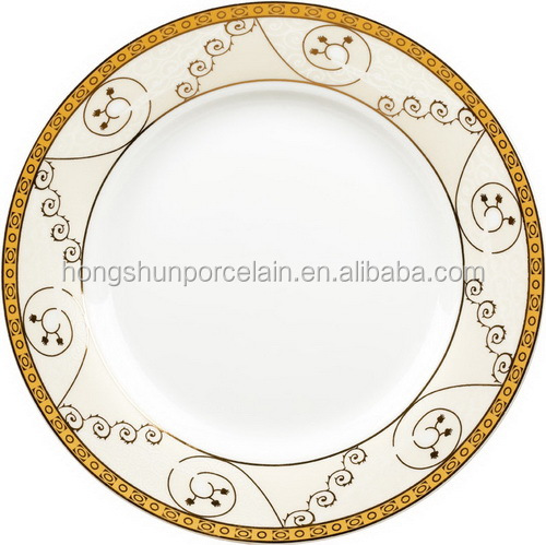 Fine bone china wholesale restaurant custom printed ceramic dinner plates