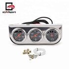 52mm Chrome Panel Oil Pressure Gauge Water Temp Gauge AMP Meter