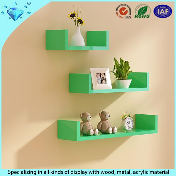 Square Cube Wood Or Acrylic Shelf Wall Mounted Flower Shelf