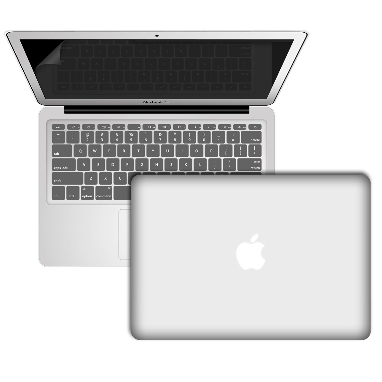 Hard Case MacBook Air 11 Inch, Laptop Cases for MacBook Air 11 Inch, RiverPanda Rubberized Cover with Keyboard Skin and Screen Protector for MacBook Air 11 - Clear