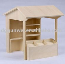 Wooden Mini Store Fruit Stand Canteen Coffee Stand Miniature Dollhouse 1:12