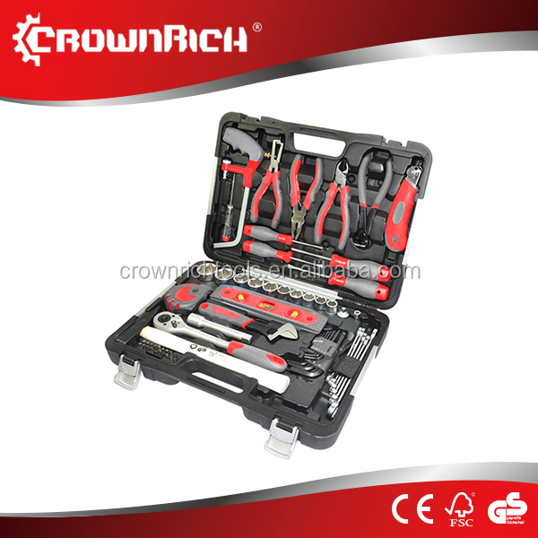 CROWNRICH 75pcs complete tools set kits hand with box