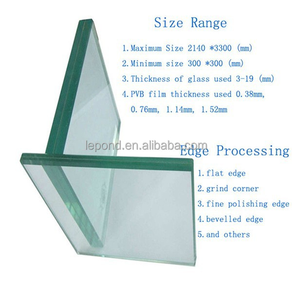Excellent Quality Solar Panels, Safety Laminated Tempered Glass For Window
