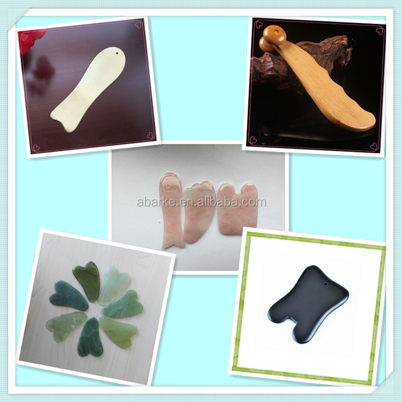 Facial Gua sha Massager Rose Quartz Guasha Tools Massage