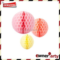 2016 Hot Sale Wedding Decorative Tissue Paper 5 Inch Honeycomb Balls