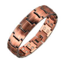 Inox Fashion Wholesale Arthritis Men Health Magnet Energy Power Bio Magnetic Therapy Pure Copper Bracelet Jewelry