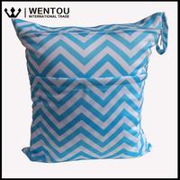 Chevron Solid Wet Dry Cotton Cloth Baby Diaper Bag