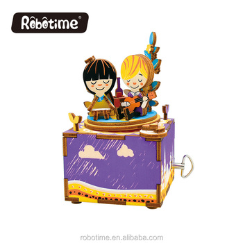 Robotime wooden puzzle toy AM303 Summer's Day DIY music box