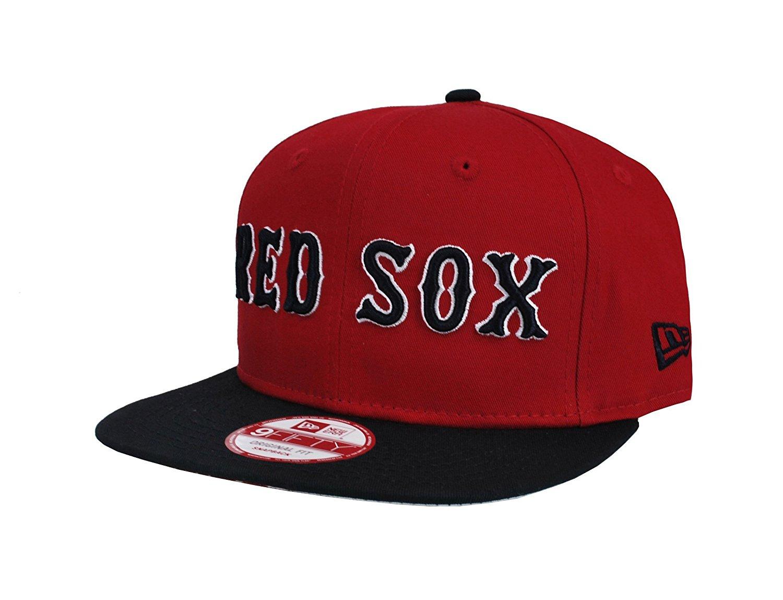 29136882f46 Get Quotations · New Era MLB Men s Boston Red Sox Flipup Red Snapback Cap