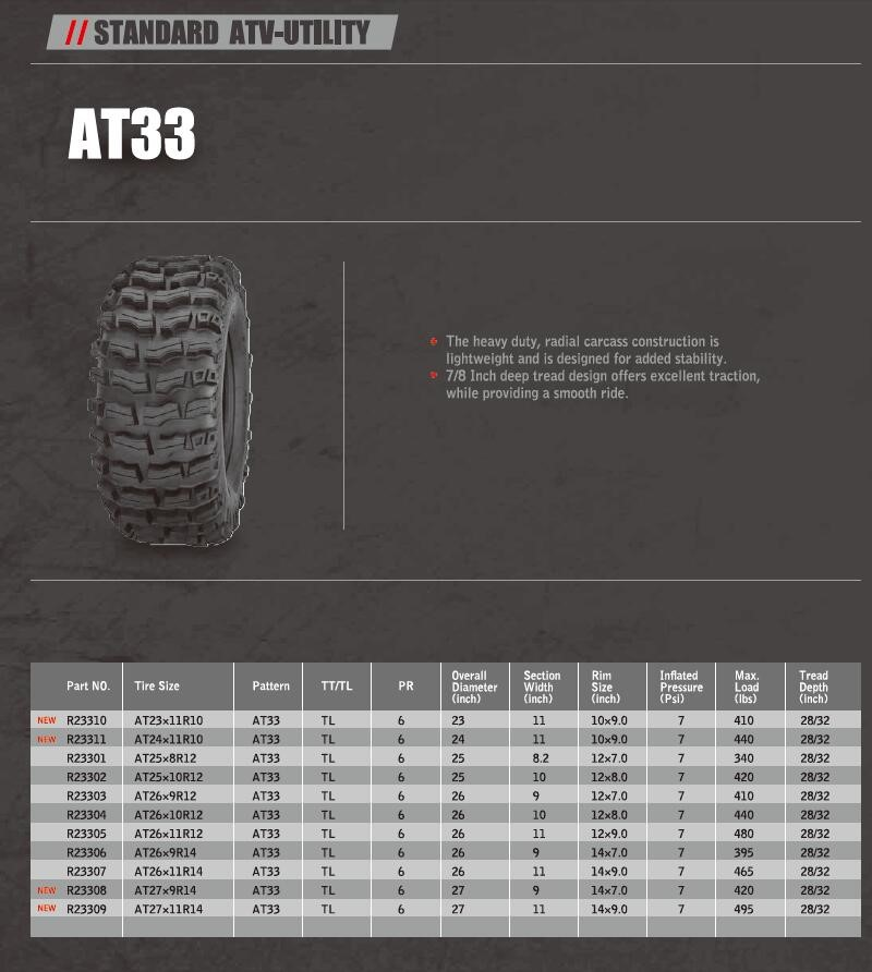 ARISUN BRAND ATV TIRES STANDARD ATV-UTILITY ATV TYRES made in china tires