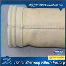 Polyester dust collector filter bag manufacture