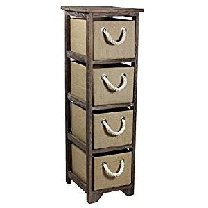 Benzara ETD-EN110427 Chic, Stylish Bin Storage 4 Drawer