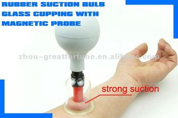 Rubber Bulb Glass Suction Cups/rubber Suction Glass Cupping Set ...