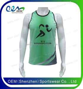 Free samples 2017 fashion high quality quick dry breathable singlets/vest wholesale