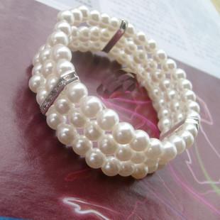 Красивая многослойные жемчужный браслет кристалл жемчужный браслет невесты ювелирные изделия браслет YB047