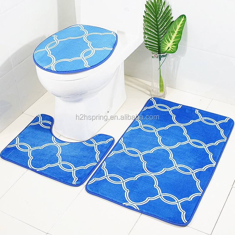 Home Textile Discount Fashionable Mixed Animal Non-skid 3Pieces Bath Mat Set 5pcs