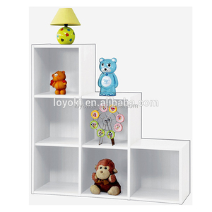 6 cubes wooden shoe storage cabinet, white color cabinet