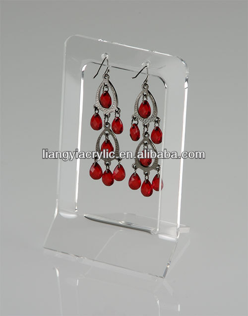 High-grade counter acrylic one pair large easel style earring stand