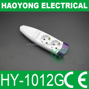 220V colored electrical receptacles 2 gang 2 way socket for home