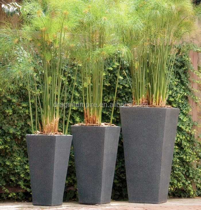 fiberglass square tapered flower planters square fiberglass flower vase square tall street. Black Bedroom Furniture Sets. Home Design Ideas