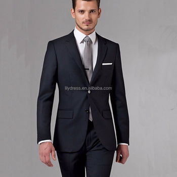 Hd004 Black Business Men Suits Custom Made Bespoke Clic Wedding For Tailor