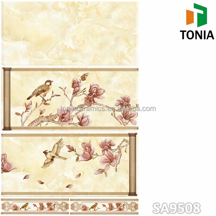 300x600 Chinese Printing Bamboo 3D Ceramic Bathroom Kitchen Wall ...