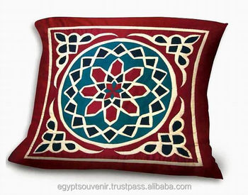 Cushion Cover Egyptian Khayameya Embroidery Handmade Pillow Cover