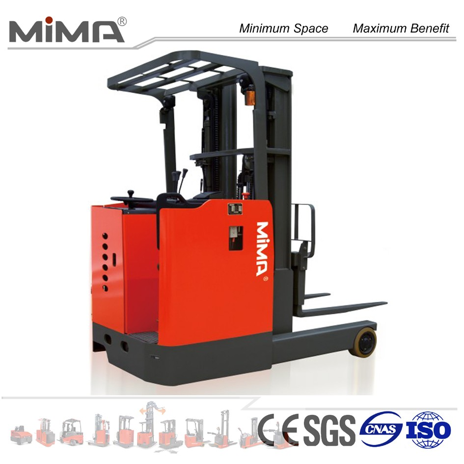 very popular battery reach forklift with CE export to Asian market