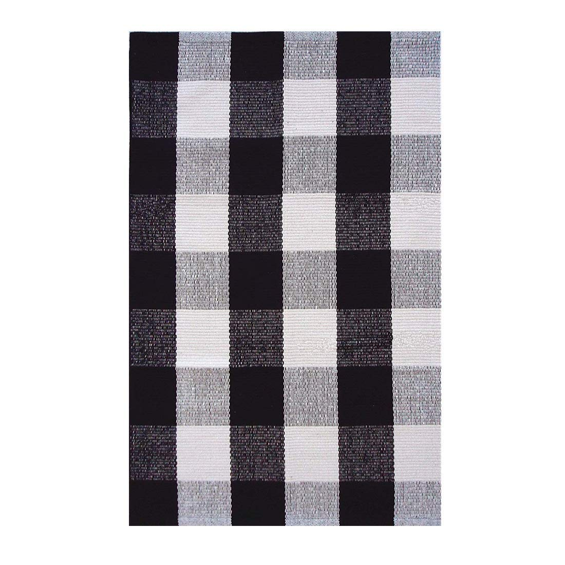 Ablitt Bath Mat Checkered Blue Gingham Bathroom White Light Baby Checked Bathroom Decor Rug 16 x 24