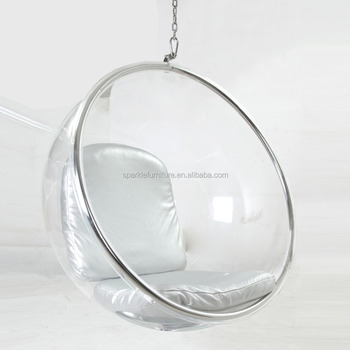 Genial Triumph Acrylic Hanging Bubble Chair, Clear Ball Chair, Retro Design Chair