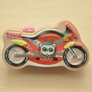 Hot Selling Kids Gifts Tin Coin Bank Cartoon Car Shape Tin Piggy Bank