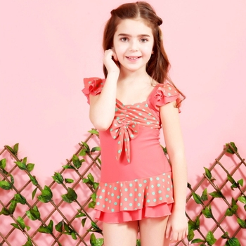 Ms64091c 2015 New Design One Piece Swimwear Girls Kids