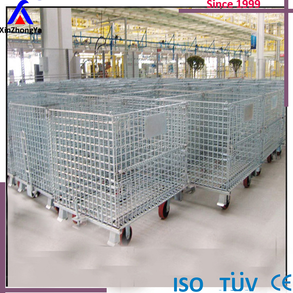 Metal stackable storage pallet cage manufacturer for sale