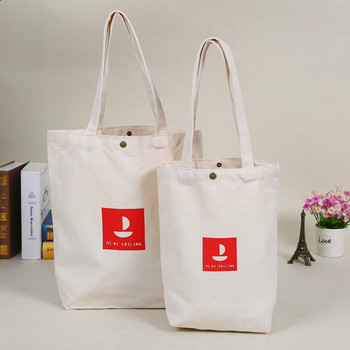 Decoration raw 100% cotton canvas tote gift bag with logo for promotion