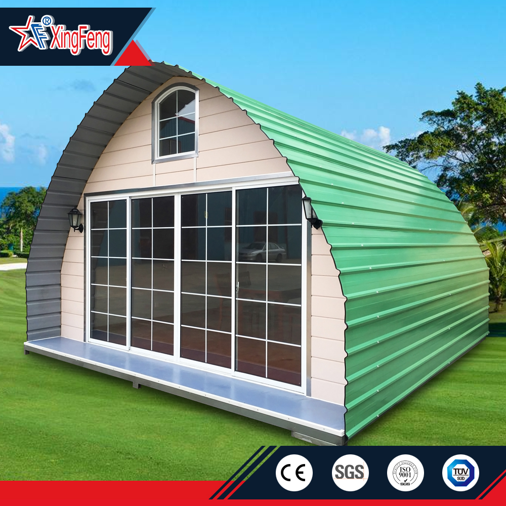 transportable modern prefab fiberglass dome house/70mm log cabins/new style cheap arched cabin houses prefabricated tiny homes