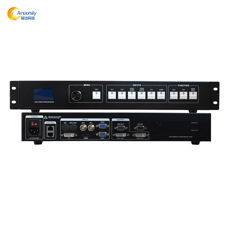 led display controller led video processor 2x2 for outdoor p2.5 led screen