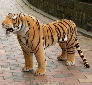 2017 hot-selling large size 190cm super simulation ridable 3D stuffed imitated plush big standing tiger toy doll for photography