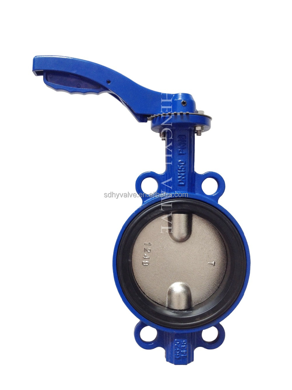 Spring Loaded Butterfly Valve/ Manual Cast Iron Butterfly Valve ...