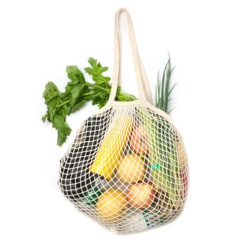 Eco Friendly grocery crochet bag cotton woven shopper bags