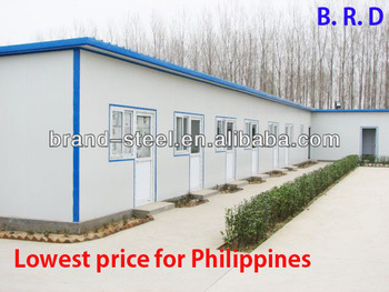 Superior Lowest Price For Philippines Steel Frame Fast Build Temporary House