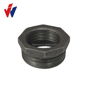 weight of gi square pipe black bushing malleable iron pipe fittings