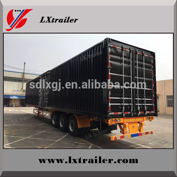 China manufacturer box type trailer/full trailer truck