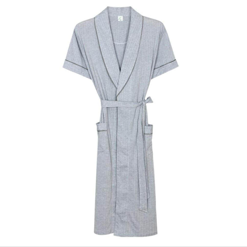 4b542d05b30 Get Quotations · Pajamas Mens Bathrobes Adults Short-sleeved Pajamas Shawl  Collar Two Large Pockets Bathrobe And Tie